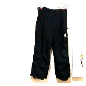 Spyder black snow pants size 8